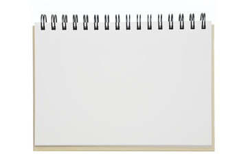 an opened notebook paper