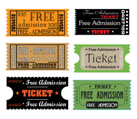 Free admission tickets