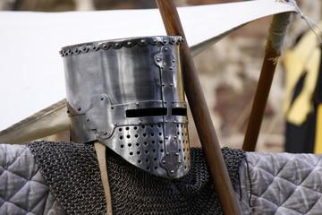 Ritterrüstung auf einem Mittelaltermarkt