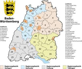 Landkreiskarte Bw