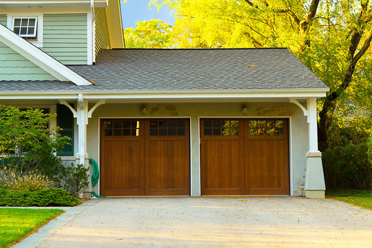 Two car wooden garage