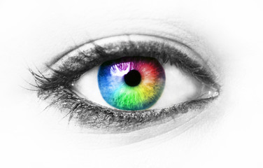 Foto op Canvas Iris Colorful eye