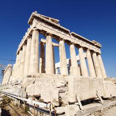 Parthenon temple, acropolis of Athens Greece