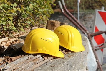working helmets