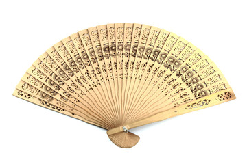 wooden chinese hand fan