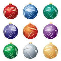 balls christmas twirl