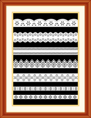 Lace Sampler, Cherry Wood Frame with Mat