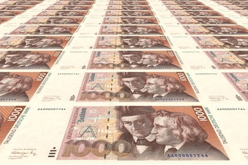 1000 DM Banknoten
