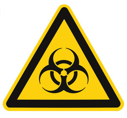 Biohazard symbol sign of biological threat alert isolated black