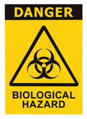 Biohazard symbol sign biological threat alert black yellow