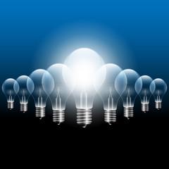 Vector Light Bulb Concept illustration