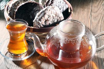 Tee und Lebkuchen Zeit