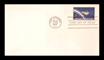 UNITED STATES:- CIRCA 1962: first day issue, stamp printed in th