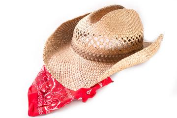 Cowboy hat and bandana