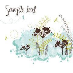 Fotobehang Schilderingen Floral background
