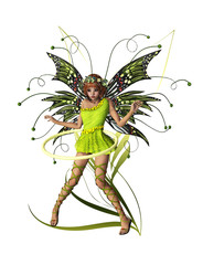 Green Pixie CA Ornament