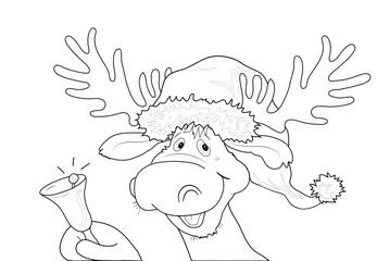 Weihnachtsbilder Elch.Malvorlage Rentier Mit Weihnachtsmütze Kaufen Sie Diese