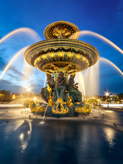 Canvas Print - fontaine place de la Concorde, Paris