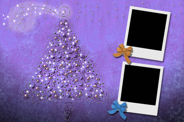 Christmas Cards from two photo frames
