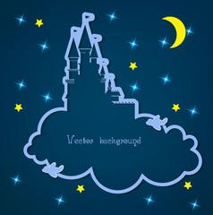 Photo sur Aluminium Ciel cloud and night vector