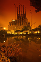 Sagrada Familia church in Barcelona - Spain