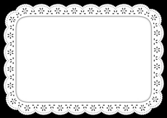 Place mat, White Eyelet Lace