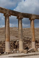 Colonne della Piazza Ovale di Jarash Giordania