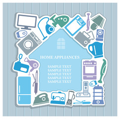 Background on home appliances theme