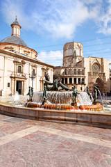 Plaza de la Virgen, Valencia Spanien