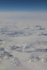 Vue aérienne du Groenland