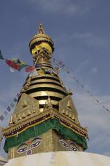 Der Stupa Swayambhu ,Kathmandu