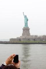 Prise de photo de la statue de la liberté