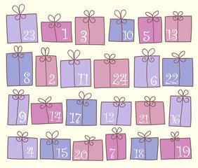 Weihnachtskalender bunt_
