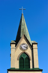 Church Steeple & Clock at Westfield, Wisconsin