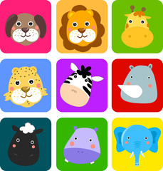 Cute animals icon