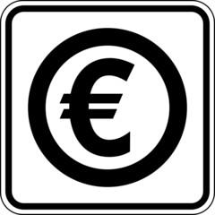 Euro € Währung Zahlungsmittel Schild Zeichen Symbol