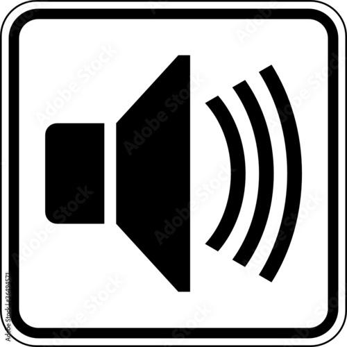 Lautsprecher Lautstärke laut Schild Zeichen Symbol\