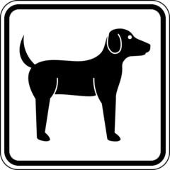Hunde Haustiere Schild Zeichen Symbol Grafik