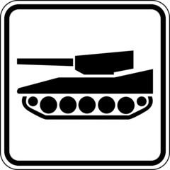 Fototapete - Panzer Fahrzeug Rüstung Schild Zeichen Symbol