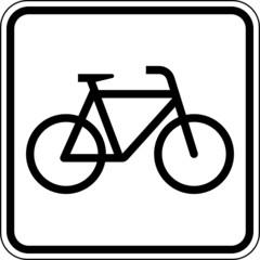 Fototapete - Fahrzeug Fahrrad fahren Zweirad Schild Zeichen Symbol