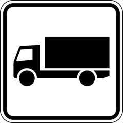 Fototapete - LKW Lastkraftwagen Schild Zeichen Symbol