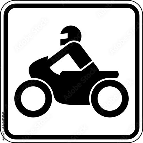 Fototapete Motorradfahrer Zweirad Motorrad Schild Zeichen Symbol