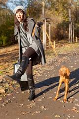 mit hund spazieren gehen