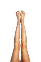 slender healthy female legs
