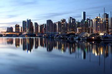 Coal Harbor Reflections at Dawn