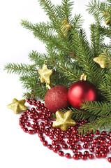 Christmas tree isolated on white background