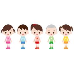 幼児 男の子・女の子 5人