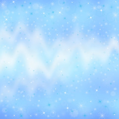 blue christmas background with wind and snowflakes