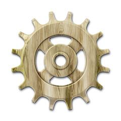 wooden gear