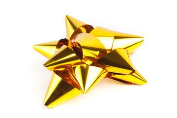 Single gold Christmas Bow